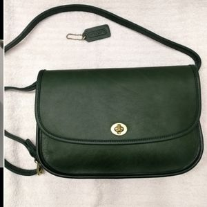 ISO Vintage Coach Green Leather City Crossbody Bag